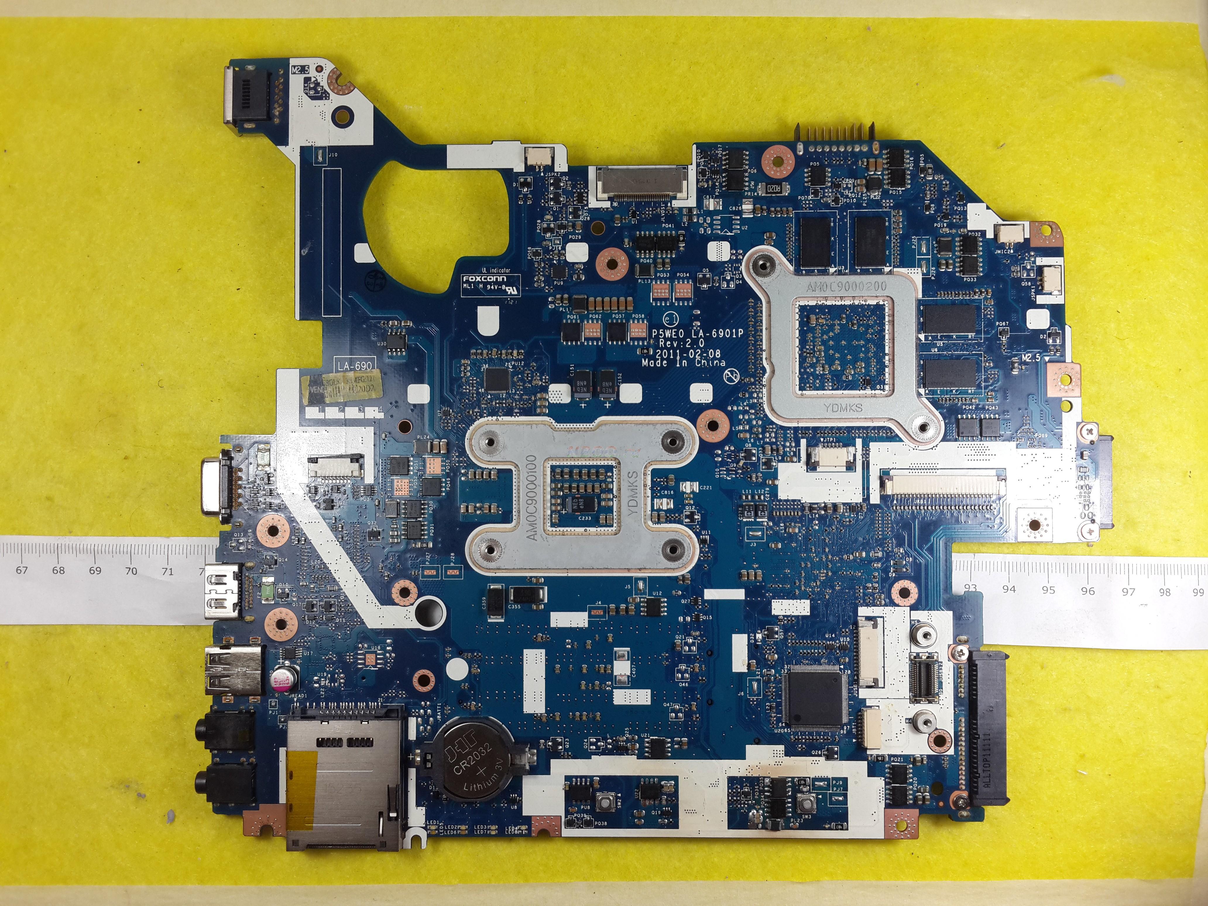 Материнская плата LA-6901P / 540M / 1GB - для Acer 5750G, Packard Bell TS11, TS44
