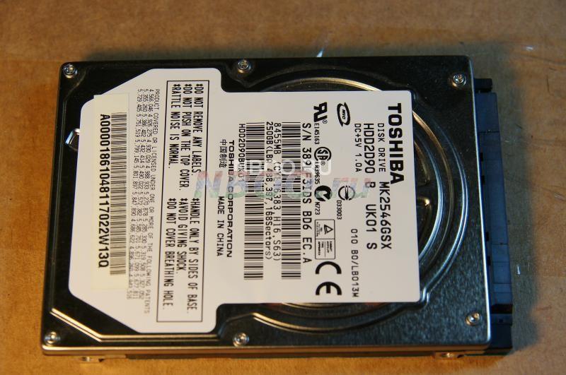 HDD  SATA  Toshiba MK2546GSX 250GB