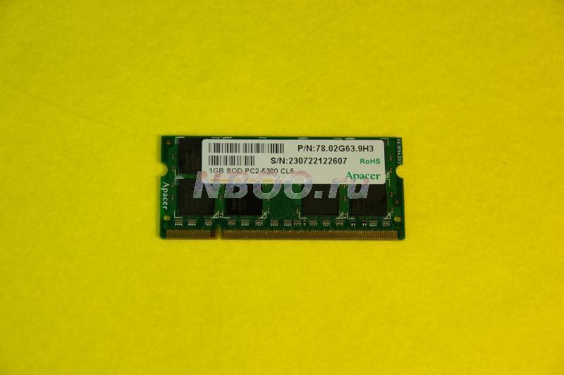 DDR2  1GB  Apacer